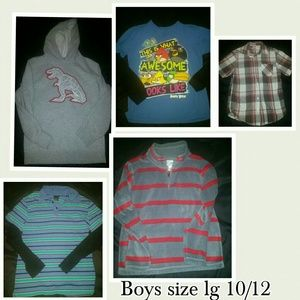 Boys top lot size large 10/12